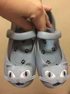 Authentic Mini melissa blue cat shoes