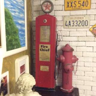Cool Gas Petro Pump shelve case with fire hydrant set