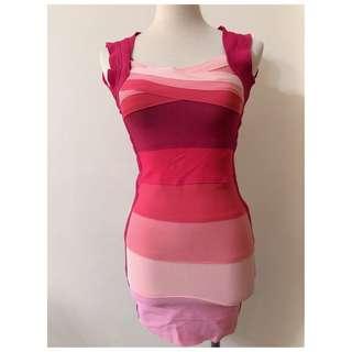 ❀☪︎ 韓  好身材  桃粉色合身洋裝