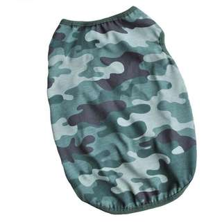 Dog camouflage vest t-shirt size M