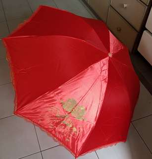 Traditional Wedding Red Umbrella