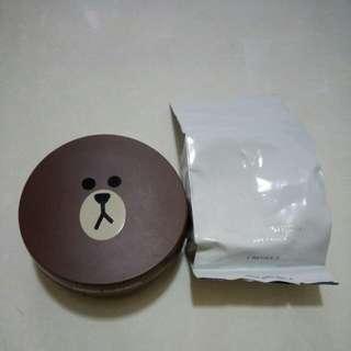 🚚 Missha熊大氣墊粉餅+補充包