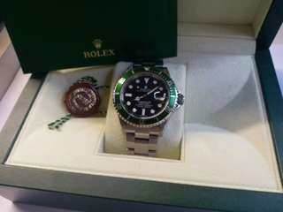 (Sold)Rolex 16610lv Submariner 綠圈