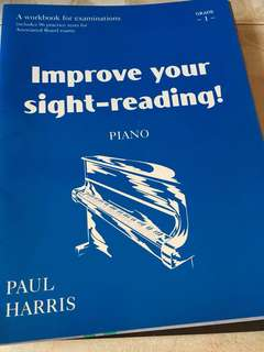 Piano book improve your sight reading