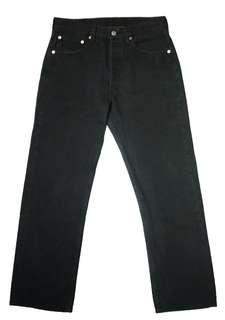 Levis 美國製 90s w31 古著 501 5958 501XX 黑色 牛仔褲 長褲 重磅 硬挺
