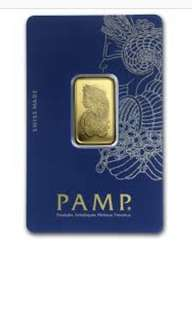 Looking for pamp Suisse Gold bar
