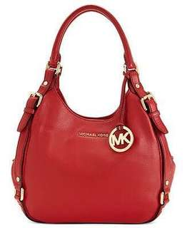 Michael Kors Bedford Red Leather with Gold Hardware