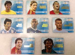 World Football players cards vintage collection
