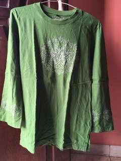 Kaos panjang muslim hijau