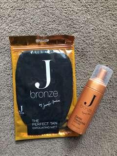New and Unused J Bronze Tanning Kit, dark