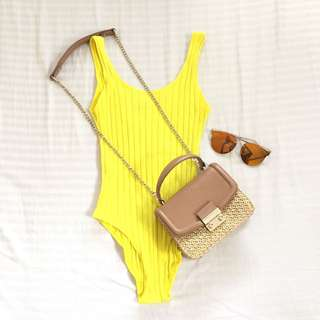 Topshop Yellow One Piece