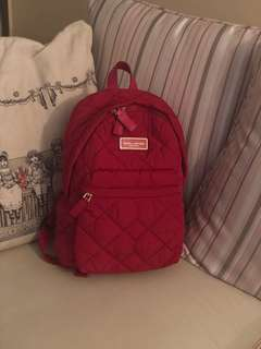 Marc Jacobs Red Quilted Nylon Backpack