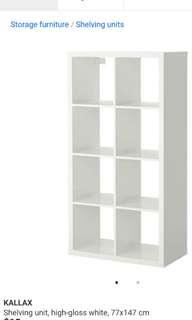 Ikea Kallax White 8 Cube Unit