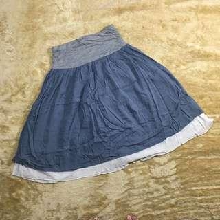 bottom - 2in1 grey skirt