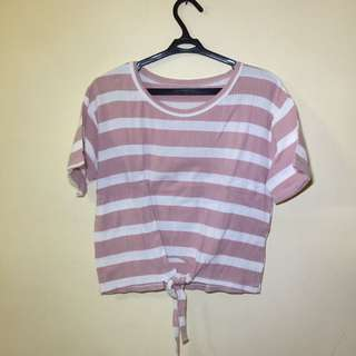 Pink Stripped Top