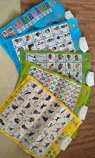 Baby learning materials, 5pcs set, english & chinese learning, got battery