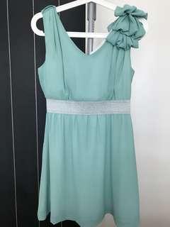 Light green glittering dress