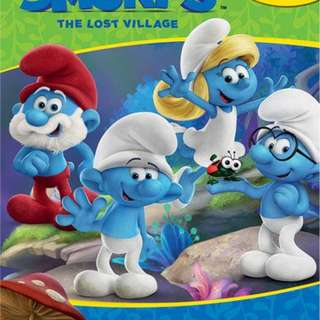 Buku Anak MY BUSY BOOK THE SMURFS INCLUDES A STORYBOOK, 12 DISNEY FIGURINES AND A GIANT PLAYMAT