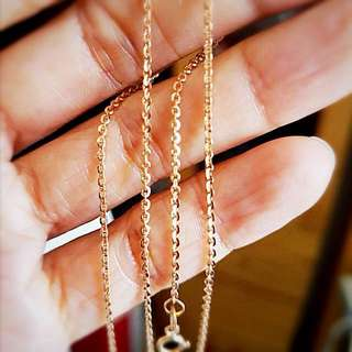 Italian 18K Rose Gold Sparkling Chain Necklace