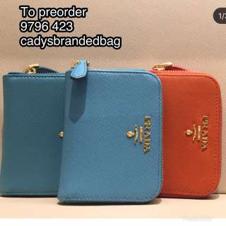 Authentic Prada Wallet to Pre order