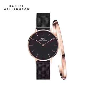 Daniel Wellington Watch 32mm black ashefield watch + cuff