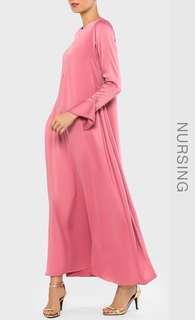 Brand New Bellaammara Jubah Abaya Rose Pink
