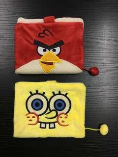 Angry bird/ Spongebob 毛毛套單行簿