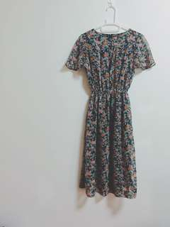 🍬古著vintage 🍬收藏款絕美花園洋裝