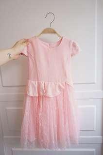 女童公主裙,活潑可人橙粉紅色,新款現貨有碼