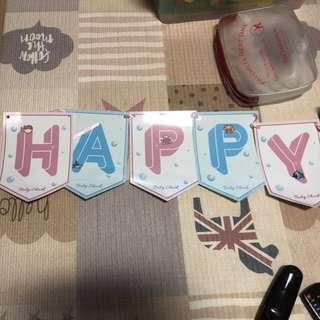 Happy birthday baby shark banner