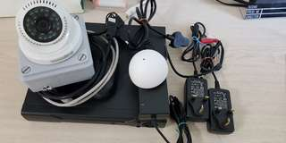 CCTV unit with Microphone and Video recorder. Can be access via Mobile phones