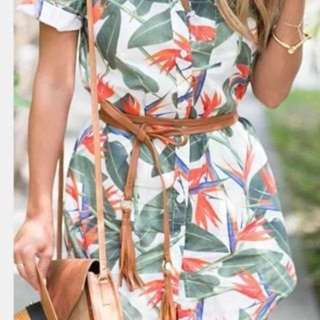 POLO DRESS WITH BELT