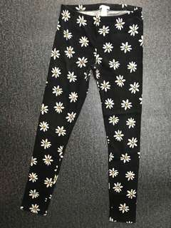 F21 Floral Leggings