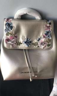 Charles and Keith Backpack Flap Frontt