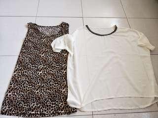 🚚 《🚫免運費》豹紋無袖兩件式上衣