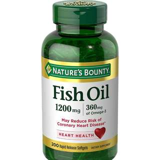 Nutritional Supplements Nature's Bounty Fish Oil 1200mg(200softgels)魚油