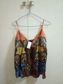 spaghetti strap brown top