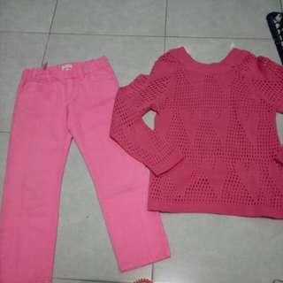 Stelan jeans pink + sweater