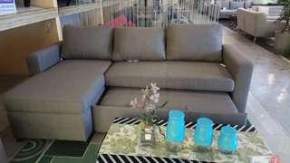 Lathan sofa L shape. 1 sofa bisa banyak bentuk
