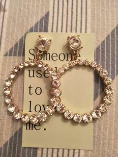 Someone used to love me - up cycled Bling earrings