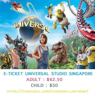 OPEN DATE E-TICKET UNIVERSAL STUDIO SINGAPORE