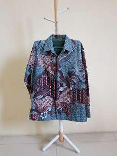 Batik Lengan Panjang Hijau Kulit Jeruk Arjuna Weda