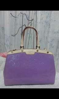 Louis Vuitton BREA Vernis Purple MM 2 way bag