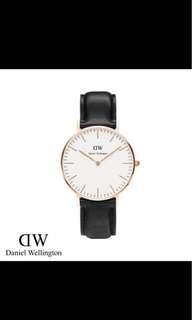Daniel Wellington DW 36mm classic white rose gold black Sheffield leather