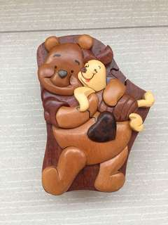 Winnie the Pooh and Piglet Wooden Box