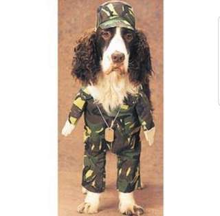 PET DOG/CAT FRONT COSTUME (Military Camouflage)
