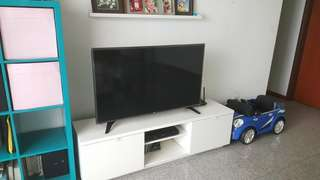 "49"" LG smart TV with console"