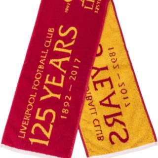 Liverpool 125 years towel scarf 利物浦125週年頸巾