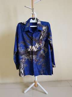 Batik Lengan Panjang Biru Arjuna Weda