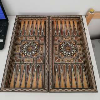 Handmade Backgammon Very High Quality made with shells